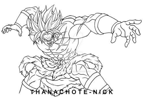 G Vs B Broly Full Power Ssj Dbs By Thanachote Nick Dragon Ball Super Art Dragon Ball Art Dbz Drawings