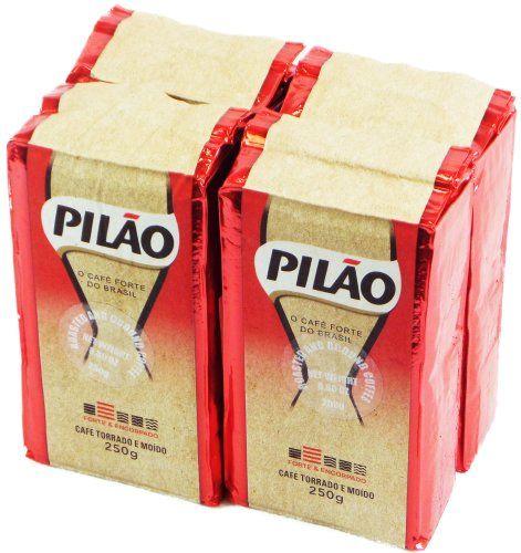 Coffee Rost and Ground - Café Torrado e Moído- Pilao 8.8oz. (250g) - GLUTEN-FREE - (PACK OF 04) - http://thecoffeepod.biz/coffee-rost-and-ground-cafe-torrado-e-moido-pilao-8-8oz-250g-gluten-free-pack-of-04/