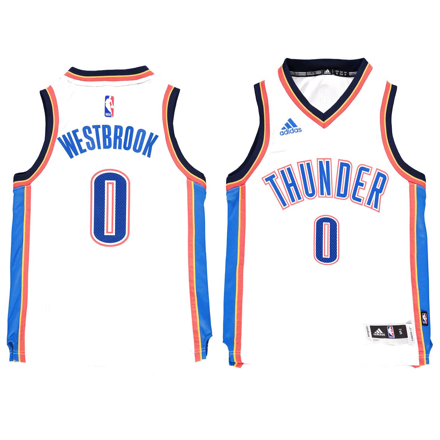 ce25d55ff4f Russell Westbrook Oklahoma City Thunder Youth Swingman Basketball Jersey -  White -  59.99