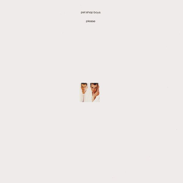 Fantastic Minimal Cover Artwork For Pet Shop Boys Please 1986