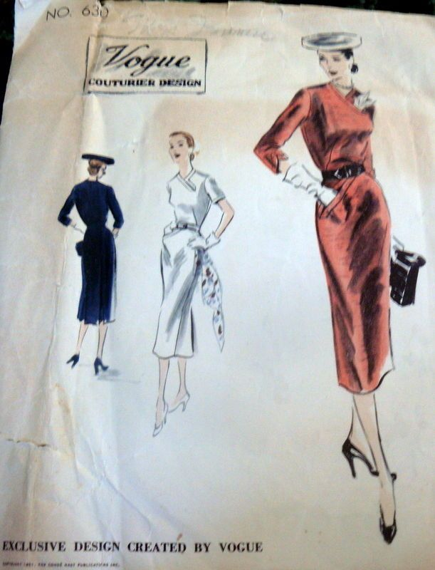 RARE VTG 1950s DRESS COUTURIER Sewing Pattern 16/34 | 1950s dresses ...