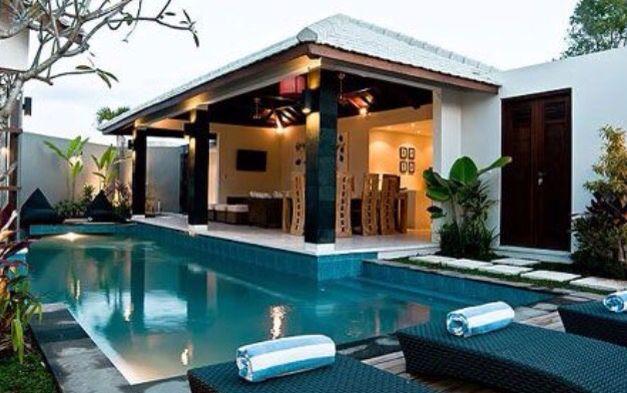 Balinese Style Pool Area Bali House Bali Style Home Luxury Pools