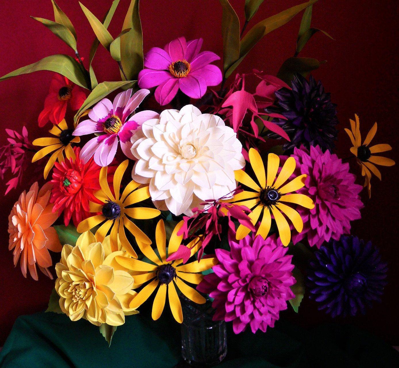 Horae bouquet paper flowers templates diy video