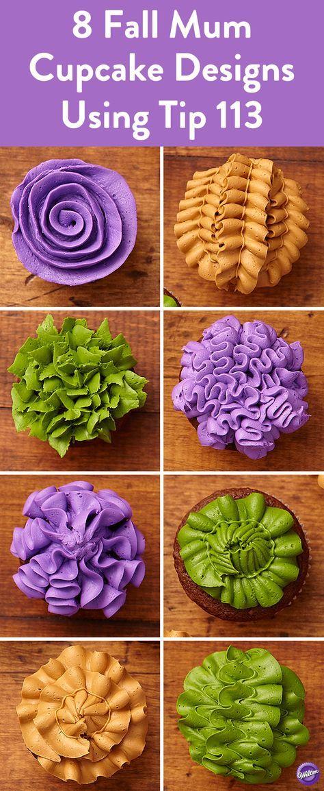 Fall Mum Cupcakes
