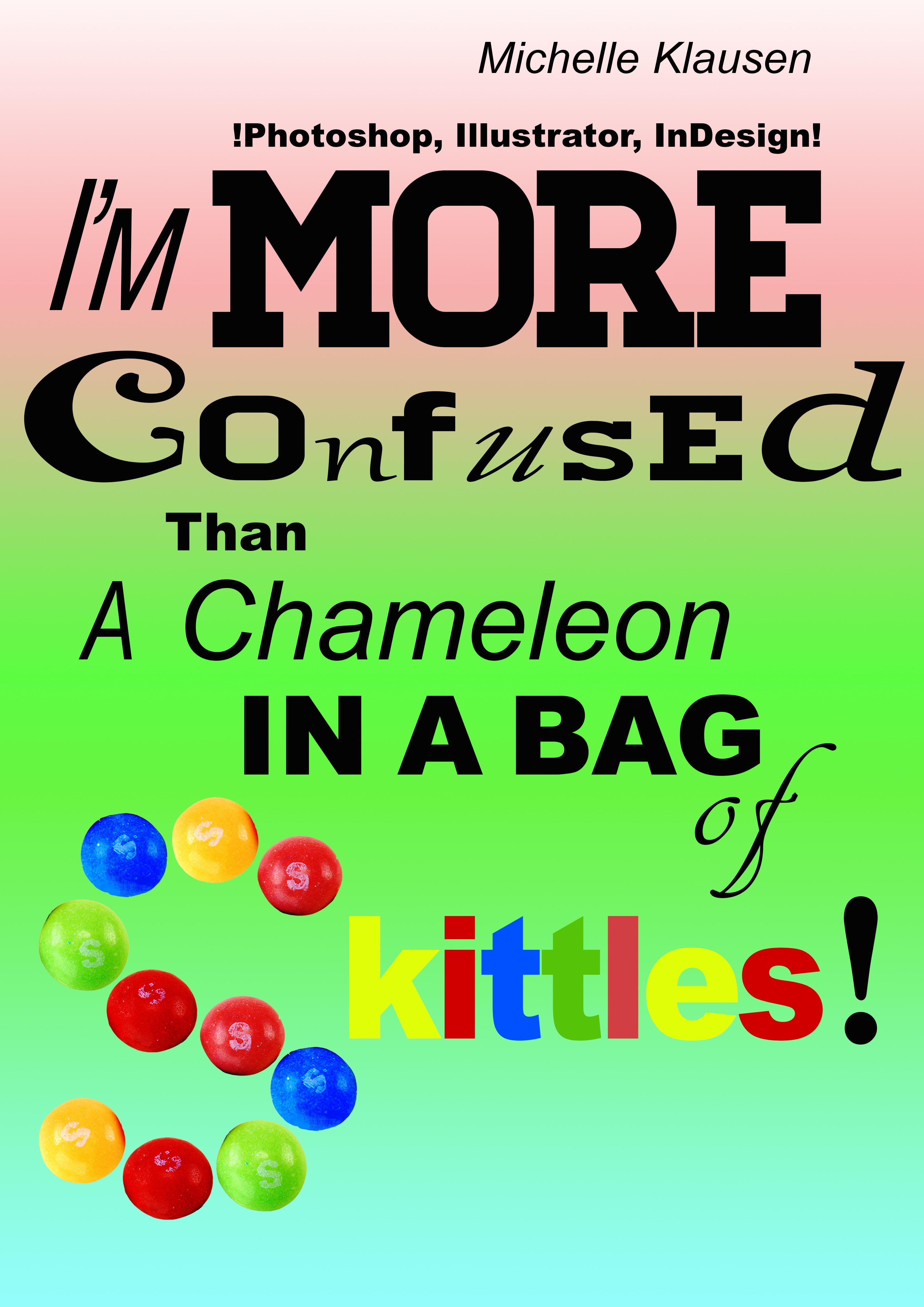 Skoleopgave i typografi, hvor opgaven lød på at lave en plakat med et selv-valgt citat. Her benyttede jeg mig bl.a. af handmade
