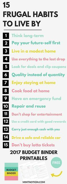 15 Frugal Habits To Live By #savingmoney