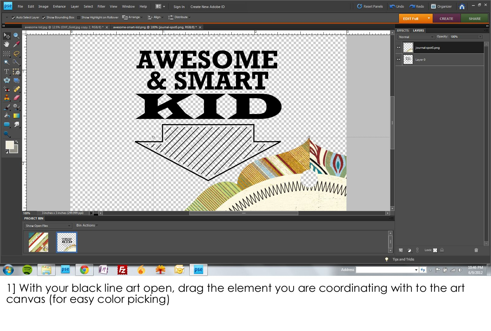 Photoshop elements tutorial on creating a design starting with photoshop elements tutorial on creating a design starting with simple word art baditri Gallery