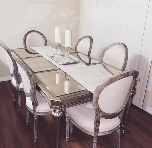 Room Natural Linen Paige Round Back Dining Chairs Set Of 2