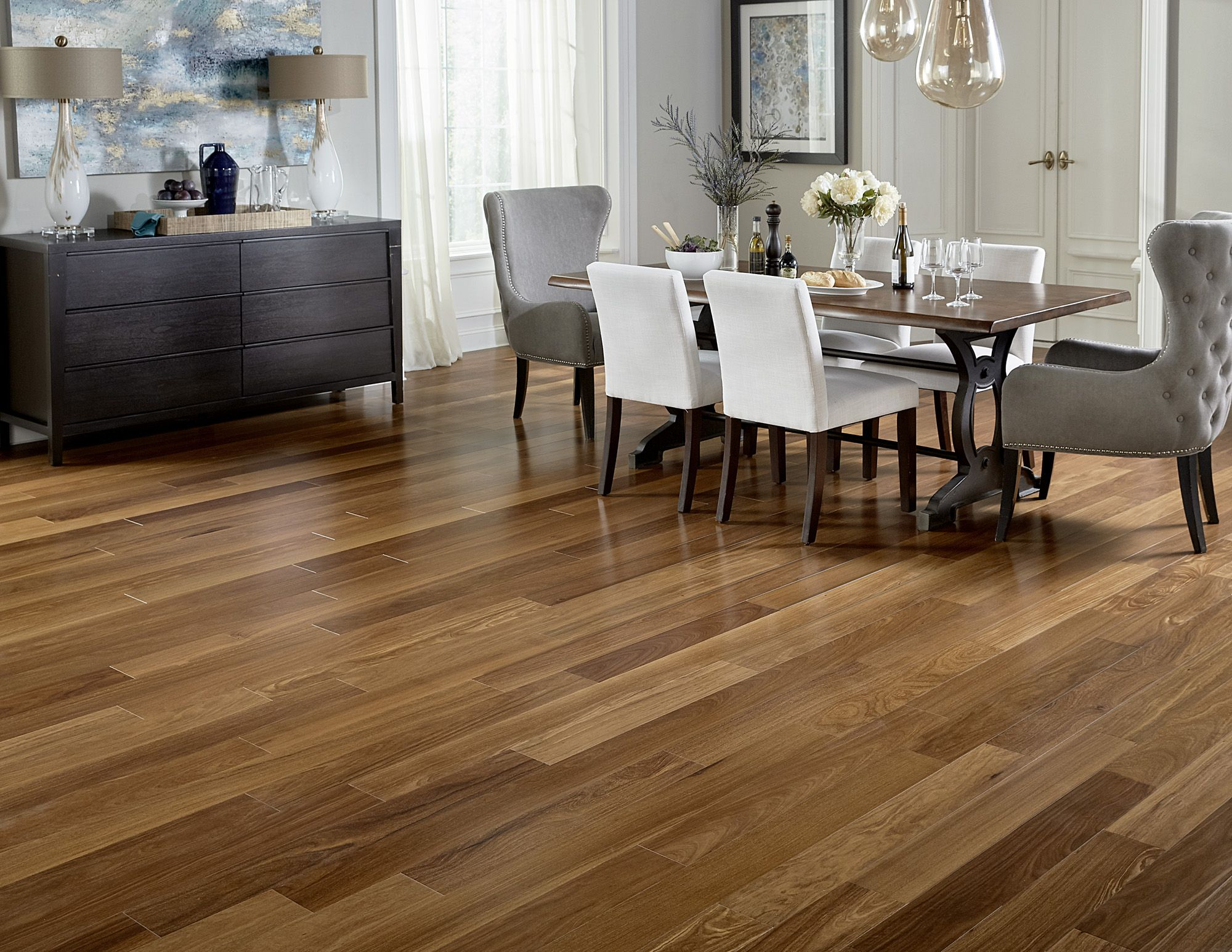 BELLAWOOD Engineered Cumaru Flooring, 1/2 x 51/8, 5.99