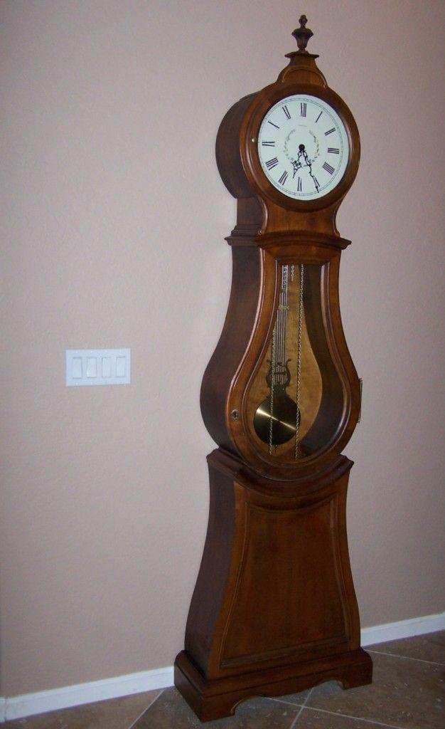 Ethan Allen Bombe Floor Clock Grandfather Gorgeous Clock
