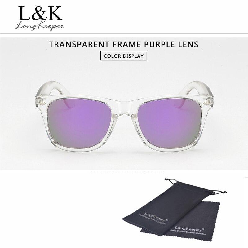 Polarized Night Vision Transparent Frame Mirror Reflective Sunglasses – TopModan…