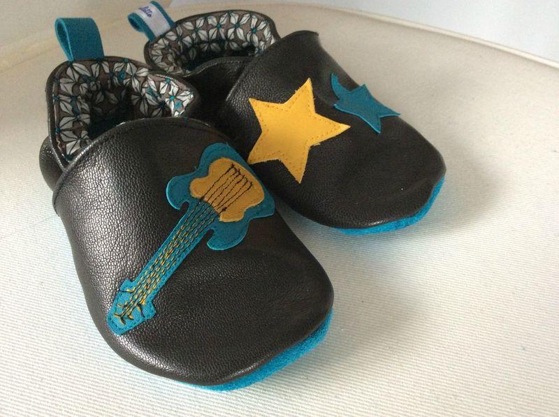meilleur site web 5edf7 76060 chaussons en cuir pour petit garçon   COUTURE Méli'fabulette ...