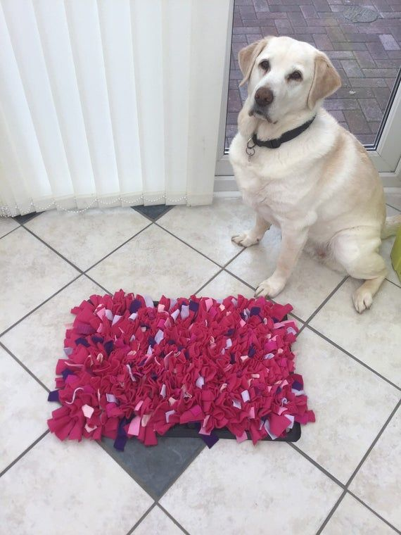 Interactive Dog Toys Pet mat in pinks, interactive dog toy, pink snuffle mat, mat to hide kibble, stylish snuffle mat, buy your dog a gift, enrichment feeder,