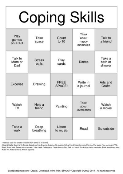image relating to Free Printable Coping Skills Worksheets for Adults identify Pin upon Disease