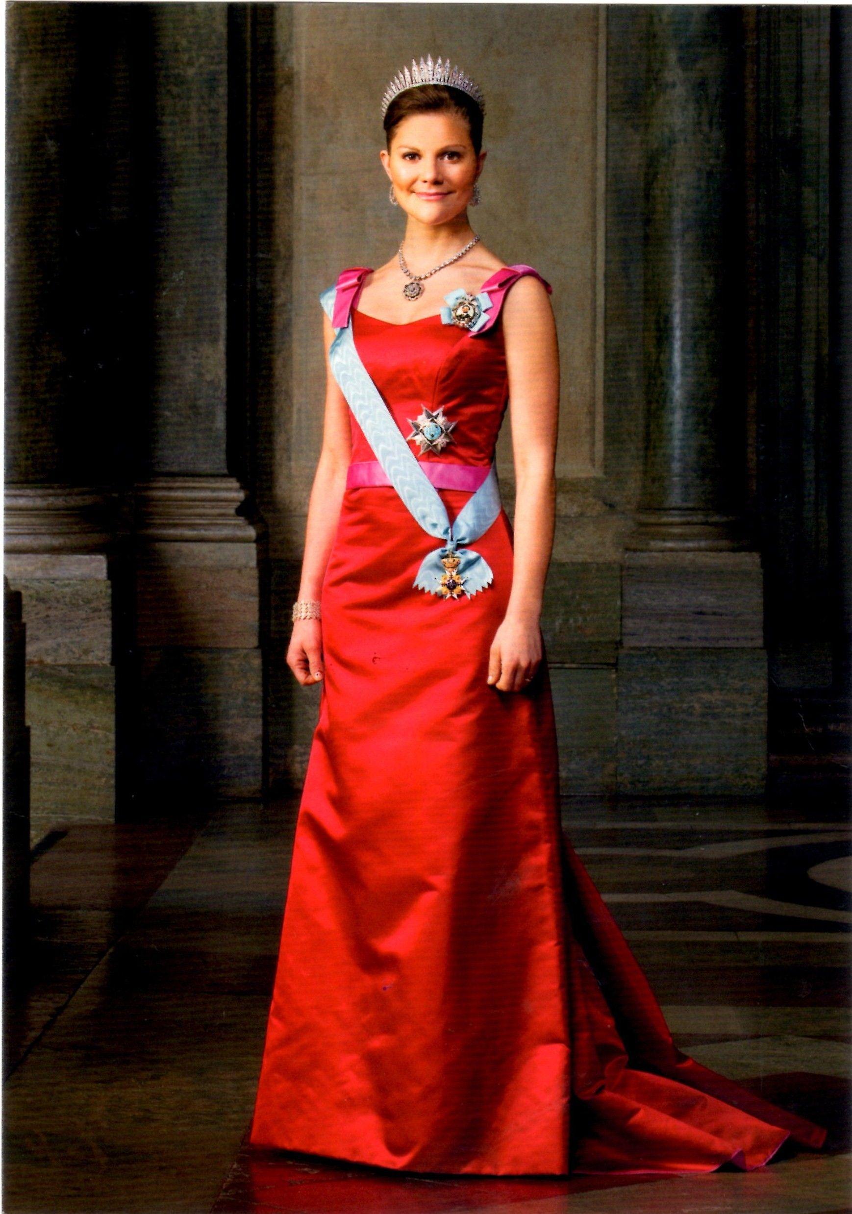 Swedish Crown Braid Tutorial: Crown Princess Victoria Of Sweden, In Full Rig.