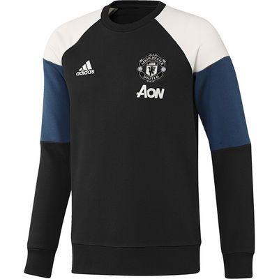 Men's adidas Black Manchester United 2016/17 Training Pullover Hoodie