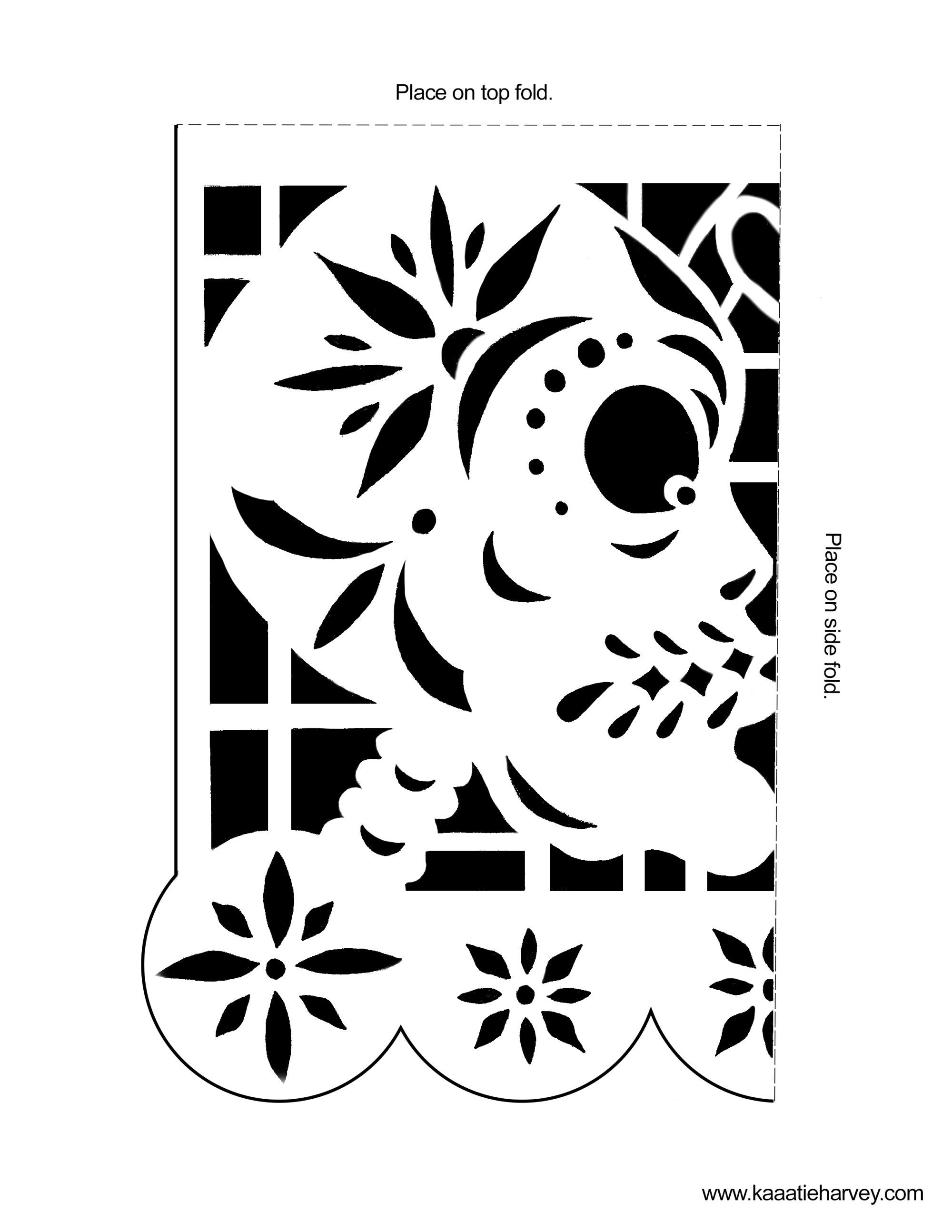 DIA DE LOS MUERTOS/DAY OF THE DEAD~Kissing Skulls Template ...