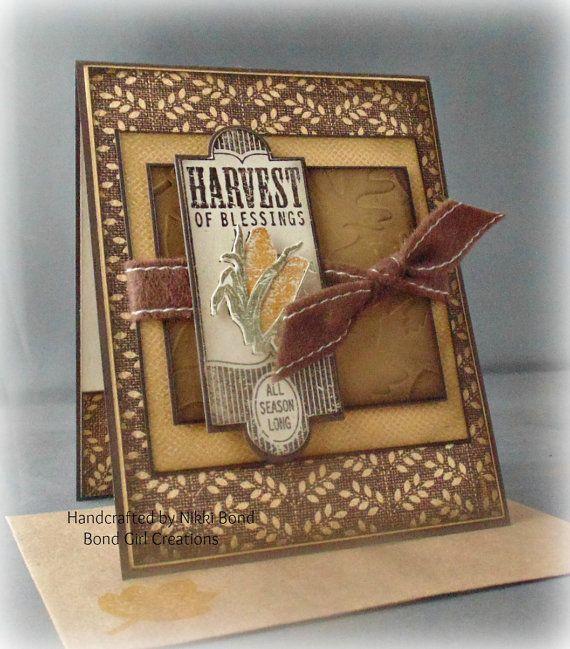 Harvest of Blessing Thanksgivng Card