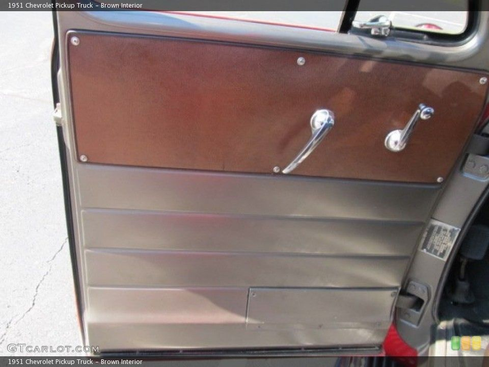 1951 chevy truck door interior brown interior door panel for the 1951 chevrolet pickup truck. Black Bedroom Furniture Sets. Home Design Ideas