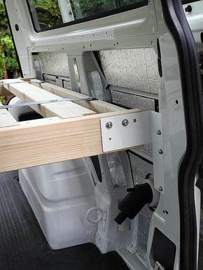 Starting The Bed Frame Bed Frames Camper Van Camping Camper