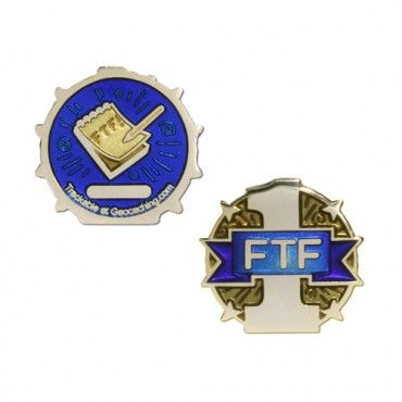 First To Find Ftf Micro Geocoin Gold Geocaching Coin Display Stand Coin Display