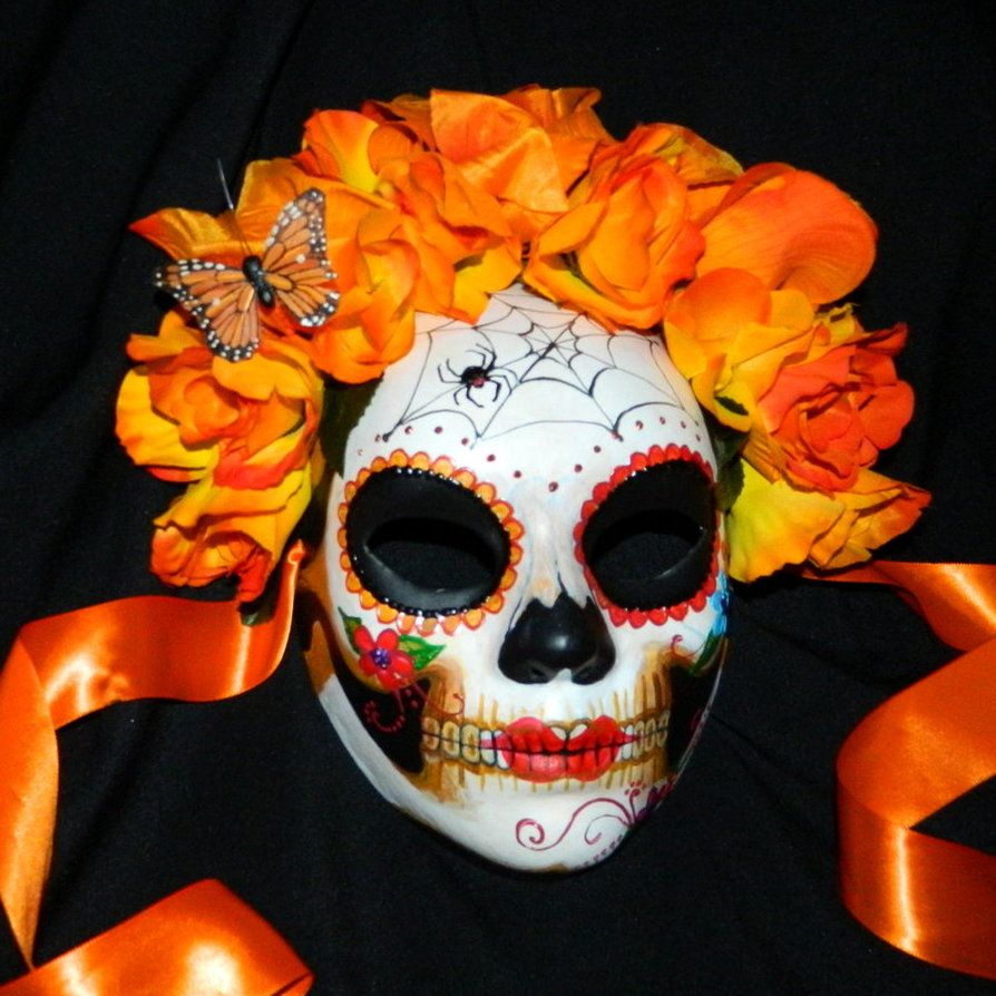 deviantART: More Like Geisha Style Mexican Day of the Dead Mask by ...
