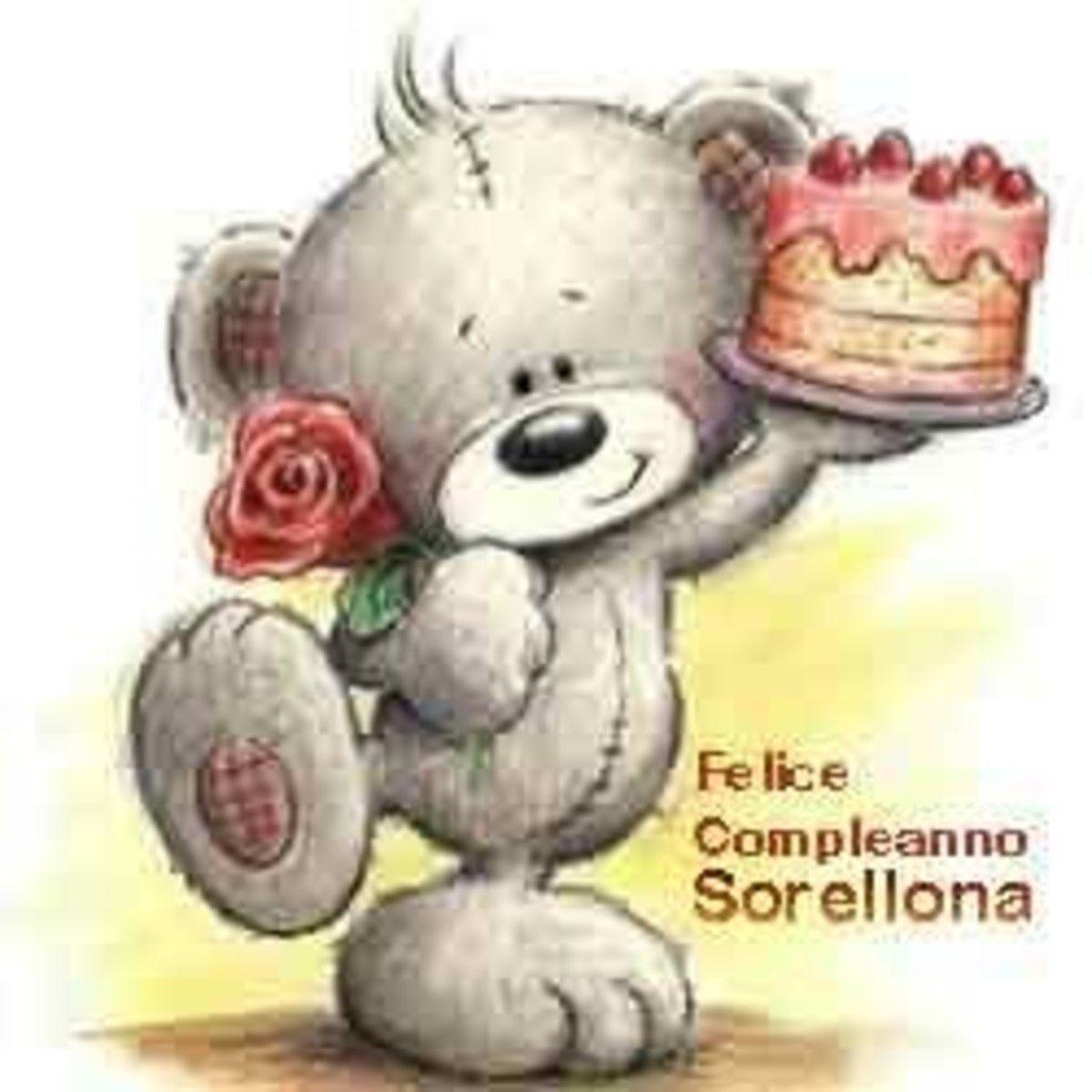 Felice Compleanno Sorellona Buon Compleanno Compleanno Auguri