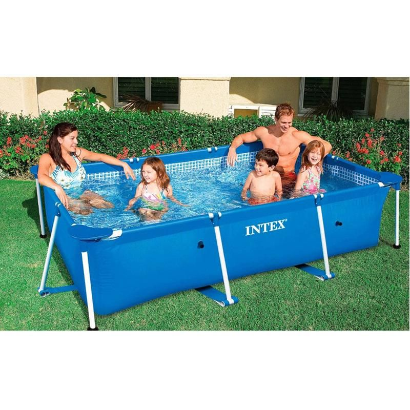 Metal Frame Steel Tube Rectangular Square Swimming Pool Splash Swimming Pool Intex Rectangular Swimming Pools