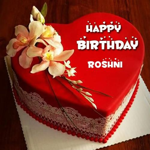 Happy Birthday Red Heart Love Cake Pic With Your Name Gallery
