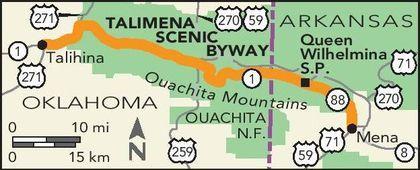 talimena drive oklahoma map Road Trips Talimena Scenic Drive Scenic Drive Fun Family Trips