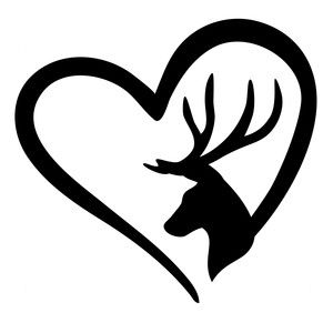 Download Hunter love | Silhouette design, Outline drawings, Deer ...