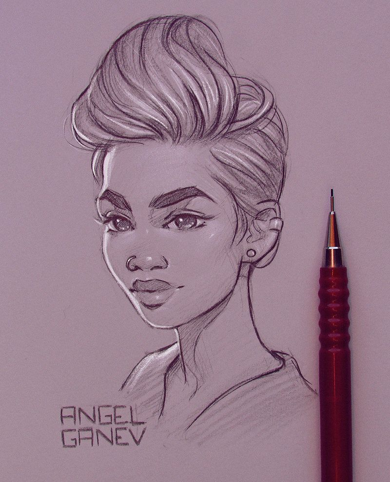 Evanie Day 189 By Angelganev Art Sketches Pencil Art Drawings Art Drawings Sketches