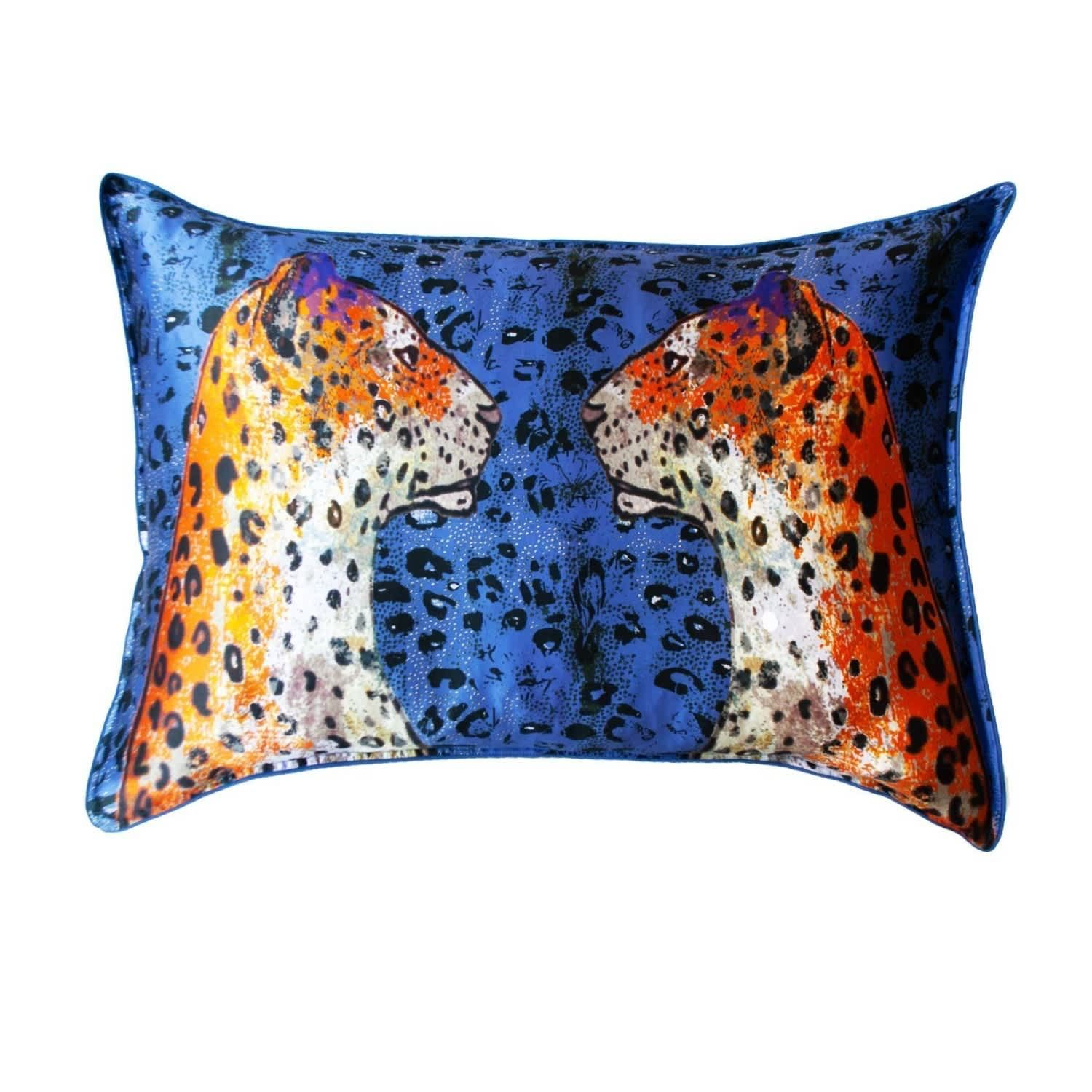 Silk Pillowcase Staring Leopard by