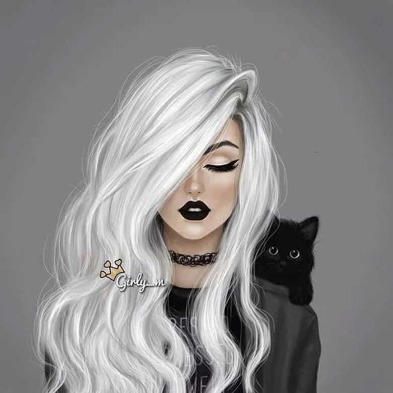 Witch Girl And His Black Cat Girly Drawings Girly Art Girly M
