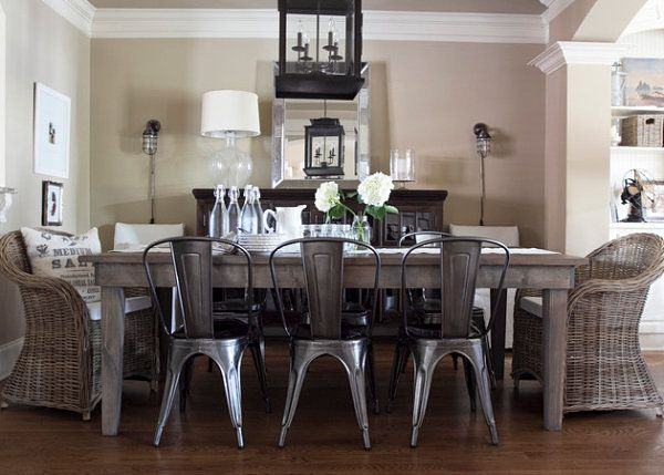 Moderncountrydiningroom 600×429  Dining Mood Board Adorable Industrial Style Dining Room Tables 2018