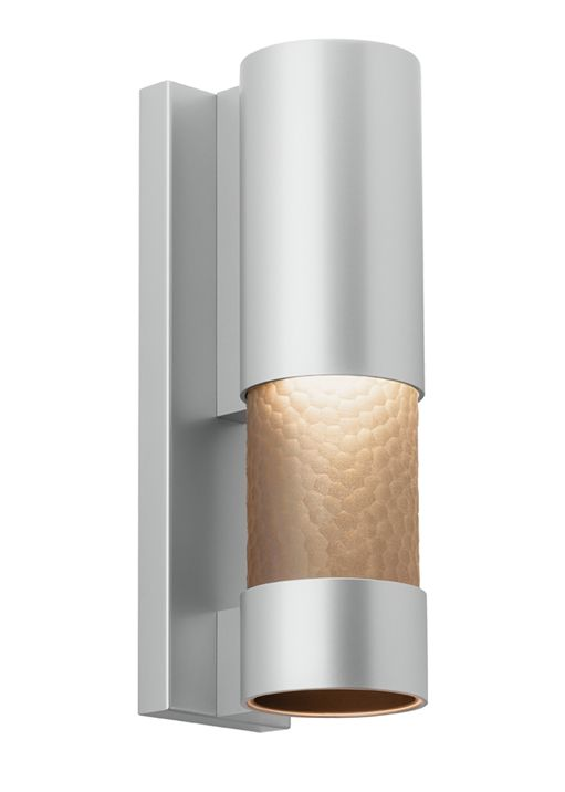 Append an attractive and modern flair to your outdoor living space by adding lbl lighting moon dance silver outdoor led wall sconce