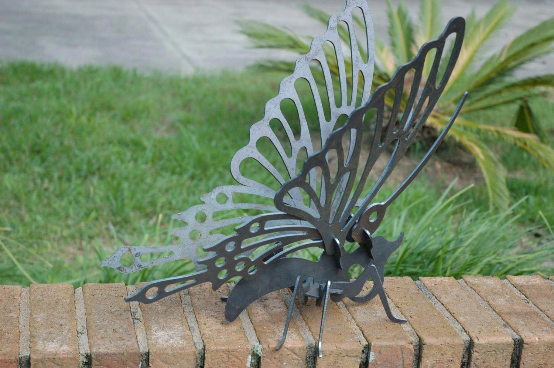 3D metal butterfly Garden Ornament Metal Art Cnc Plasma Art