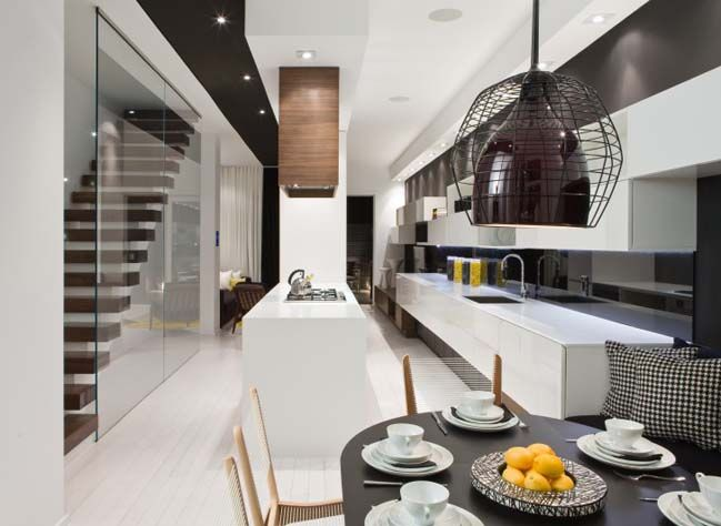 Modern Townhouse Interior Design By Cecconi Simone Townhouse Interior Modern Home Interior Design Modern Houses Interior