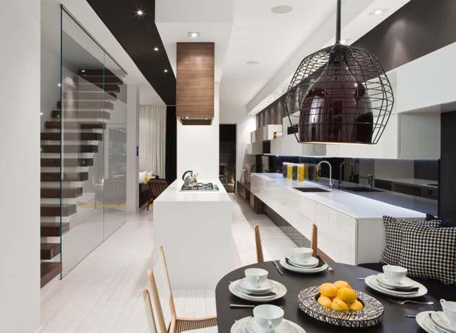 Modern townhouse interior design by Cecconi Simone