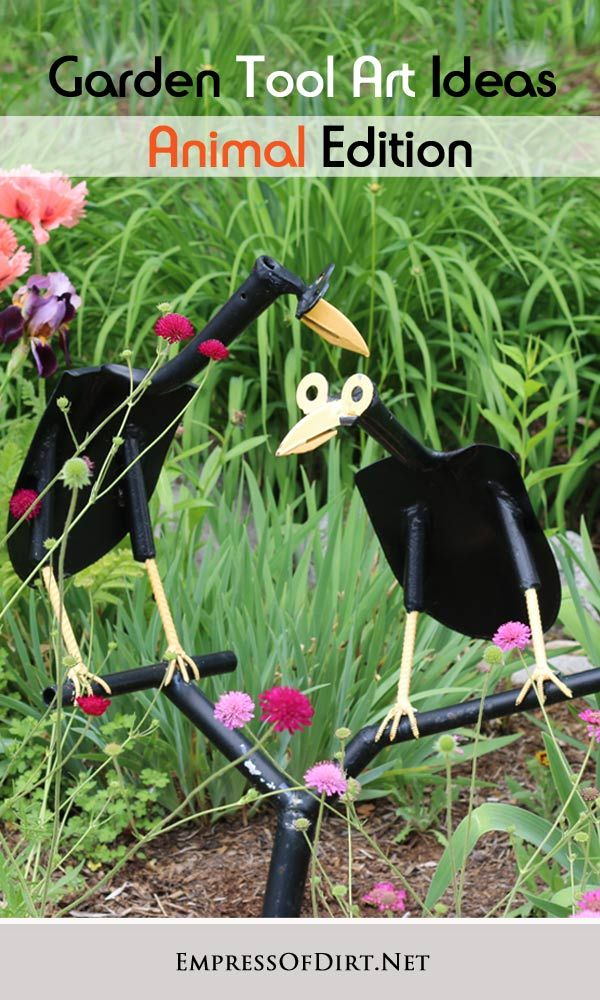 Garden Yard Art Ideas tire recycling ideas 22 animal shaped garden decorations recycled yard artrecycled Garden Tool Art Animal Ideas Super Cute Garden Art Made From Old Shovels Hammers