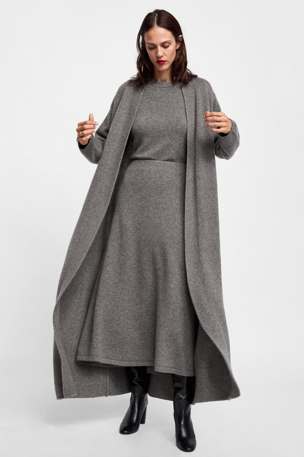 33ada0fe Image 1 of LIMITED EDITION CASHMERE COAT from Zara Cool Coats, Grey Knit  Dress,