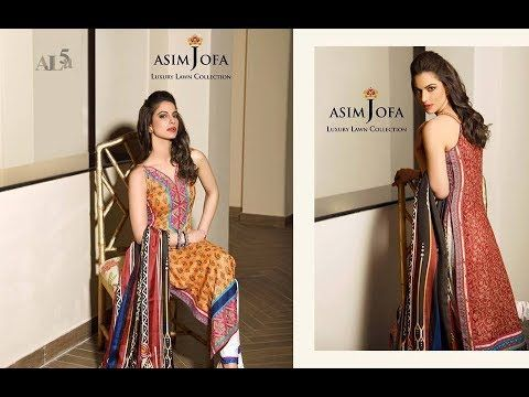 new release various design size 7 New Arrival Asim Jofa Luxury Lawn Collection 2018   Dress ...