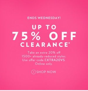 pink victoria's secret sale and clearance