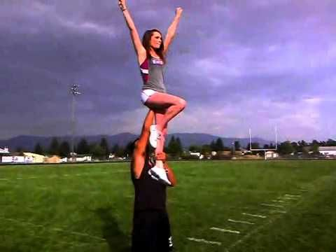 How To Do A Chair Sit Stunt Youtube Cheer Stunts Cheerleading Stunt Stunts