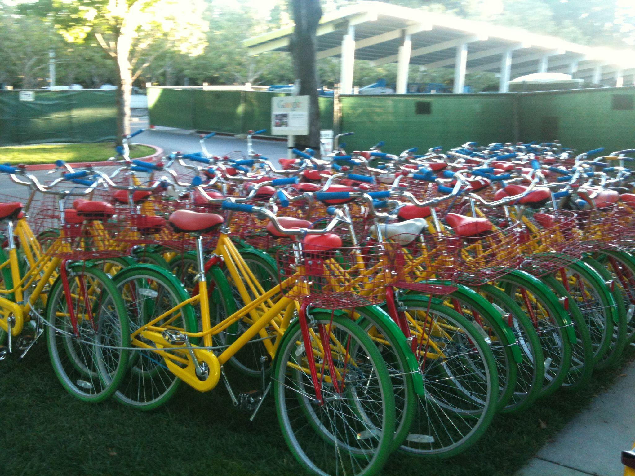 Google bikes on campus mountain view california