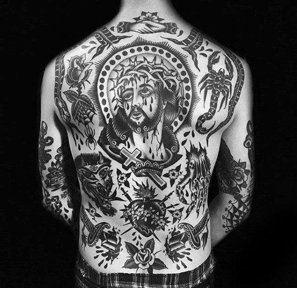 00c767e74 60 Vintage Tattoos For Men - Old School Design Ideas | Tattoos ...