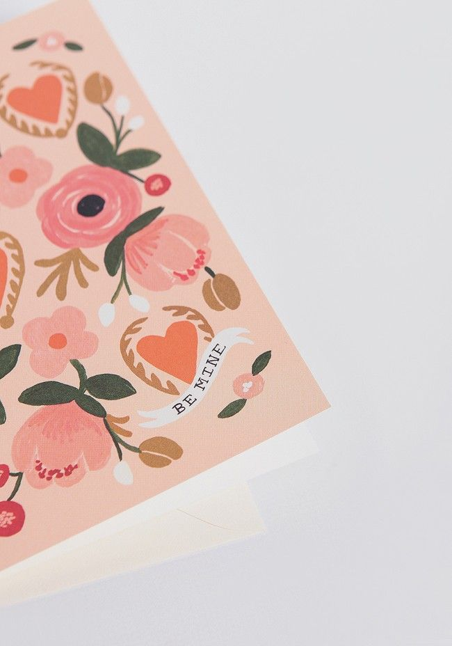 Be Mine Card by Rifle Paper Co.