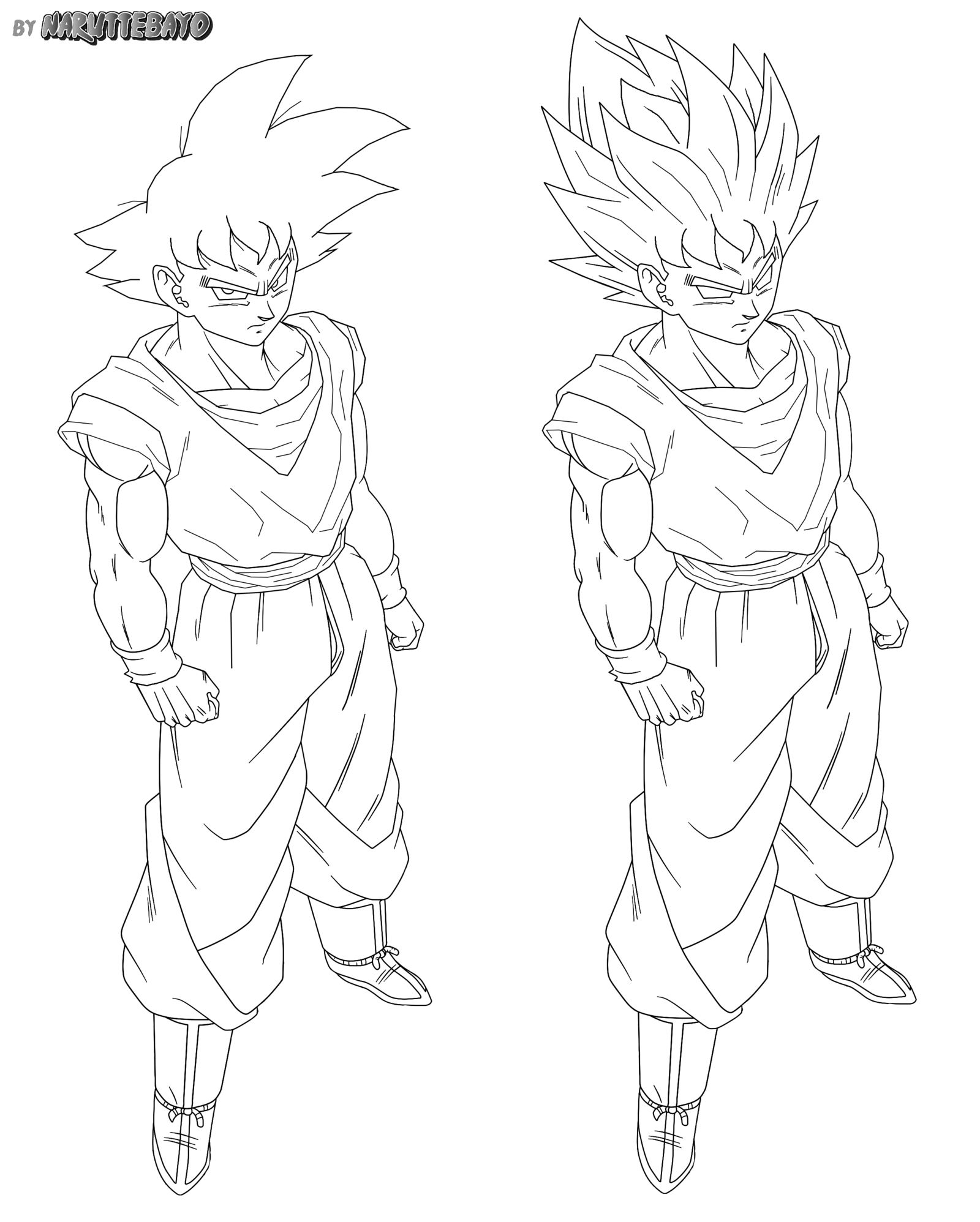 Goku Normal False Full Body By Naruttebayo67 Goku Drawing Drawings Dragon Ball Art