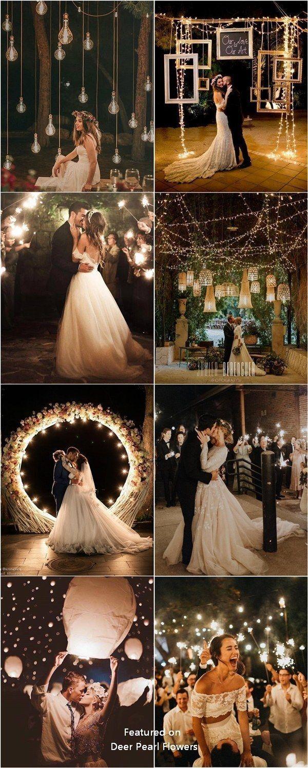 Top 20 hat Nacht Hochzeitsfotos mit Lichtern zu sehen – Hochzeitsideen
