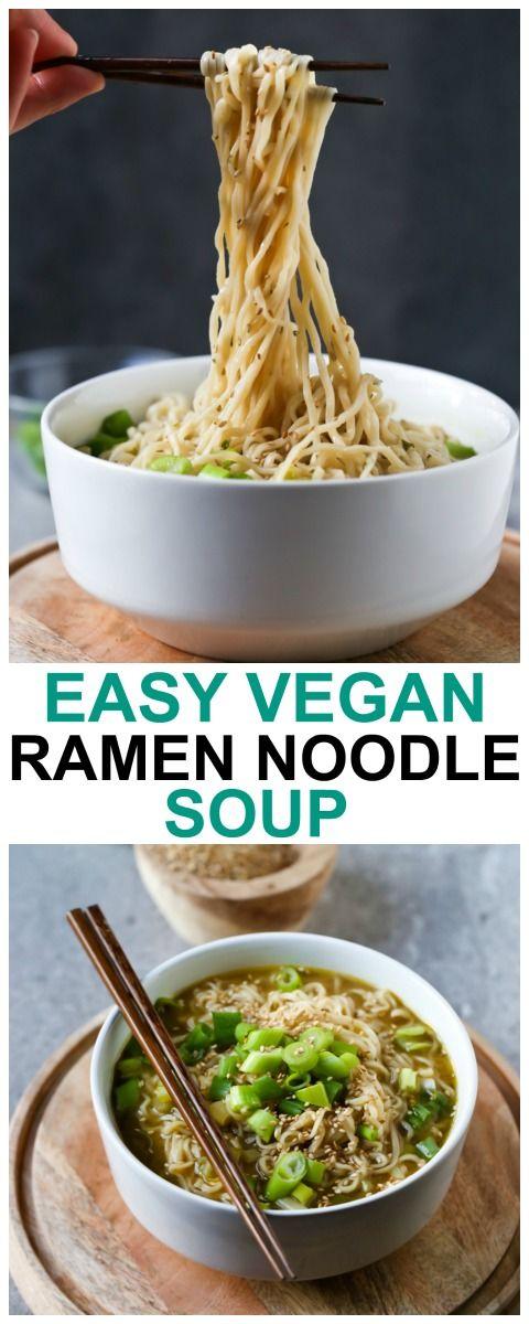 Easy Vegan Ramen Noodle Soup